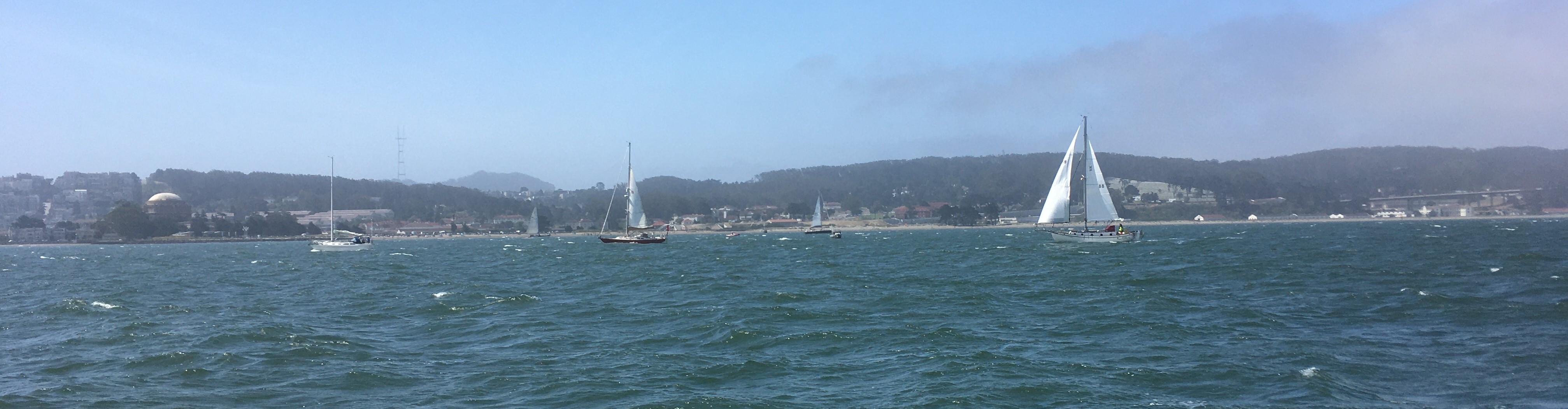 Name:  Sea Wisdom and Hula testing the ebb before the race.JPG Views: 218 Size:  686.2 KB