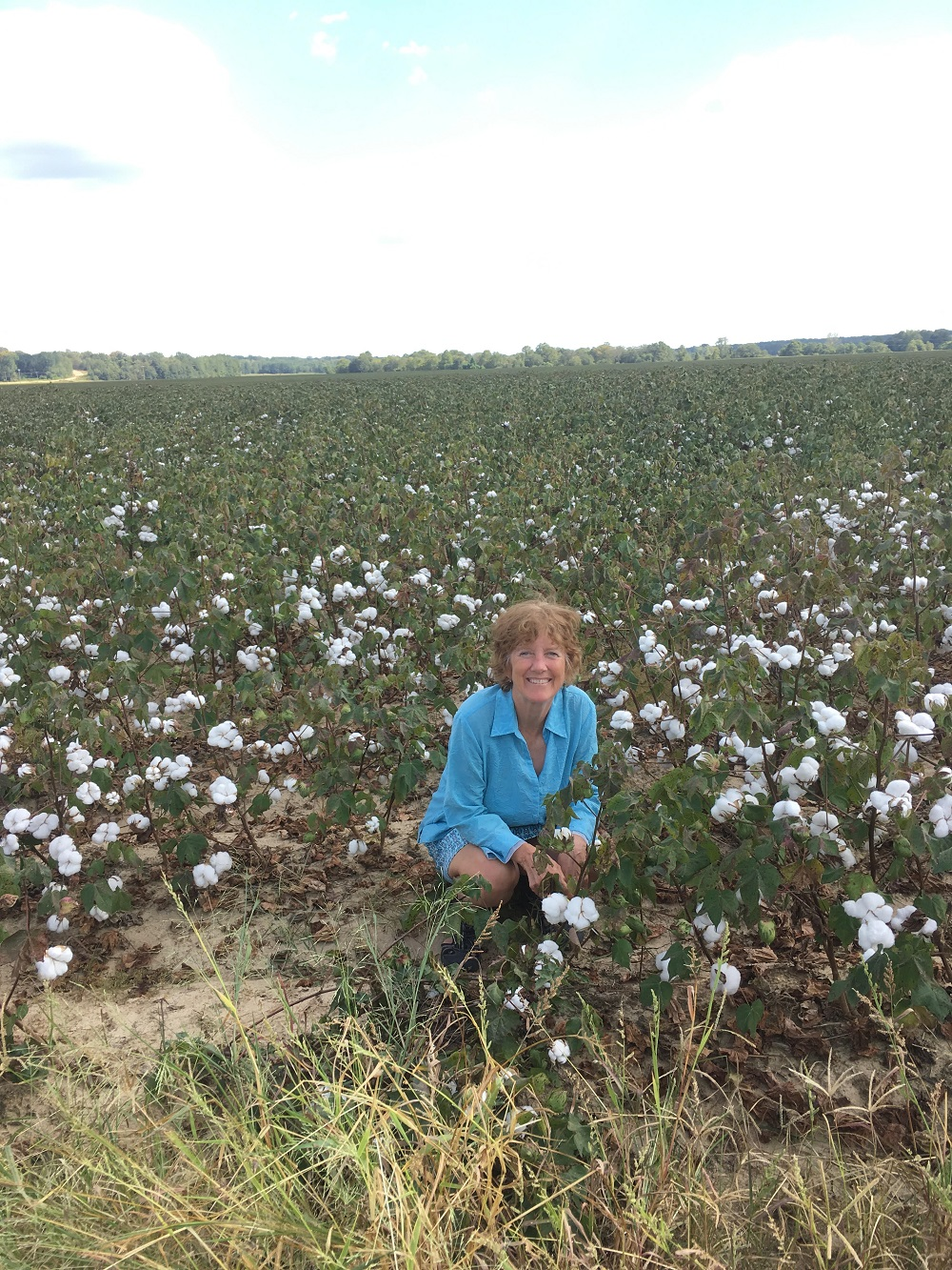 Name:  Jackie in cotton field.jpg