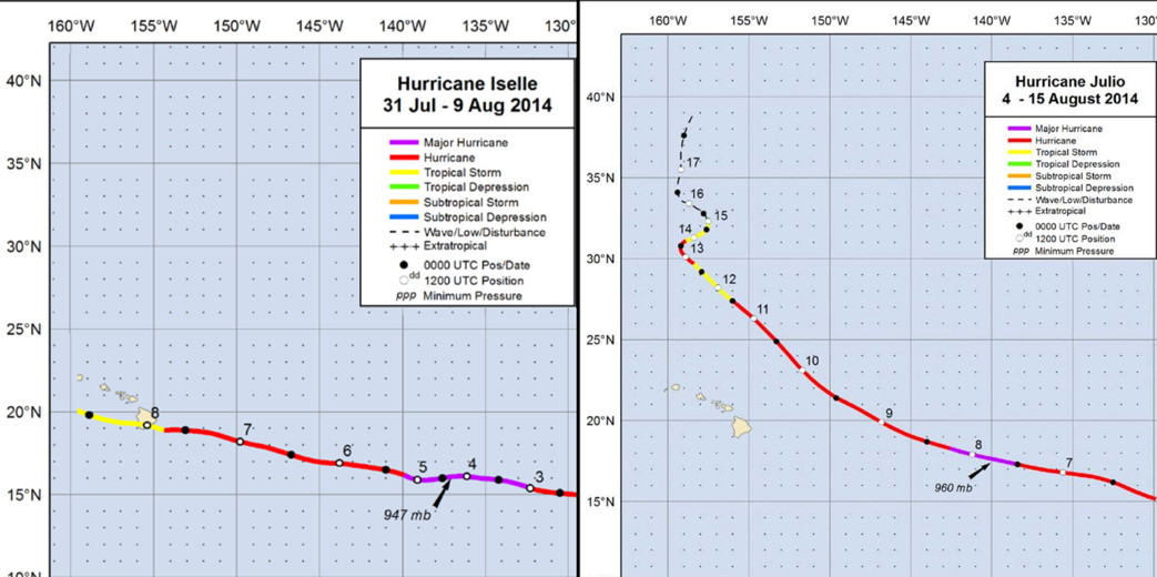 Name:  Huricane Isselle and Julio 2014s .jpg Views: 170 Size:  142.5 KB